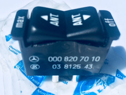 ANTENNA SWITCH NEW GENUINE MERCEDES BENZ PART # 000 820 70 10 W126 300SD 380SEC 380SEL W123 230 240D 280E 280CE 300D 300CD 300TD 300TD TURBO