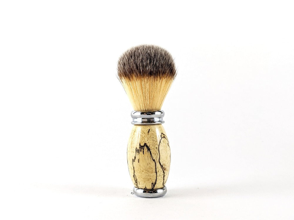 Wooden designed shaving brush.