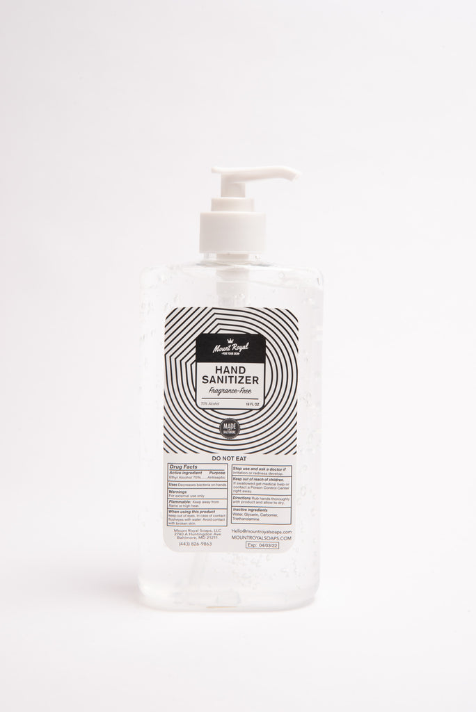 16oz Unscented Gel Hand Sanitizer