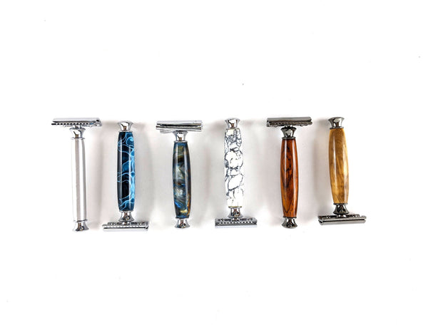 6 different style double sided razors.
