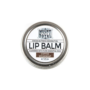 0.25 ounce silver and white lip balm container