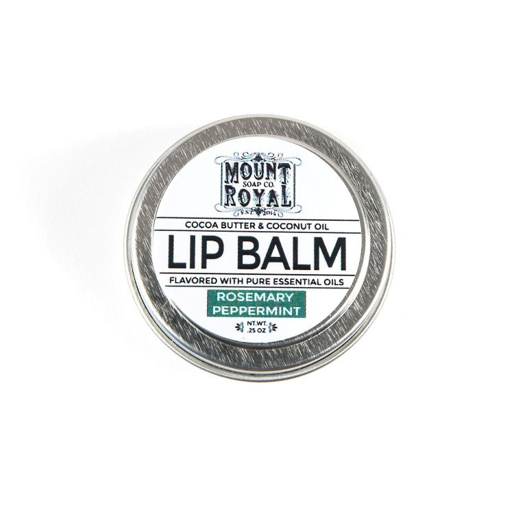 0.25 ounce white and gray container for lip balm.