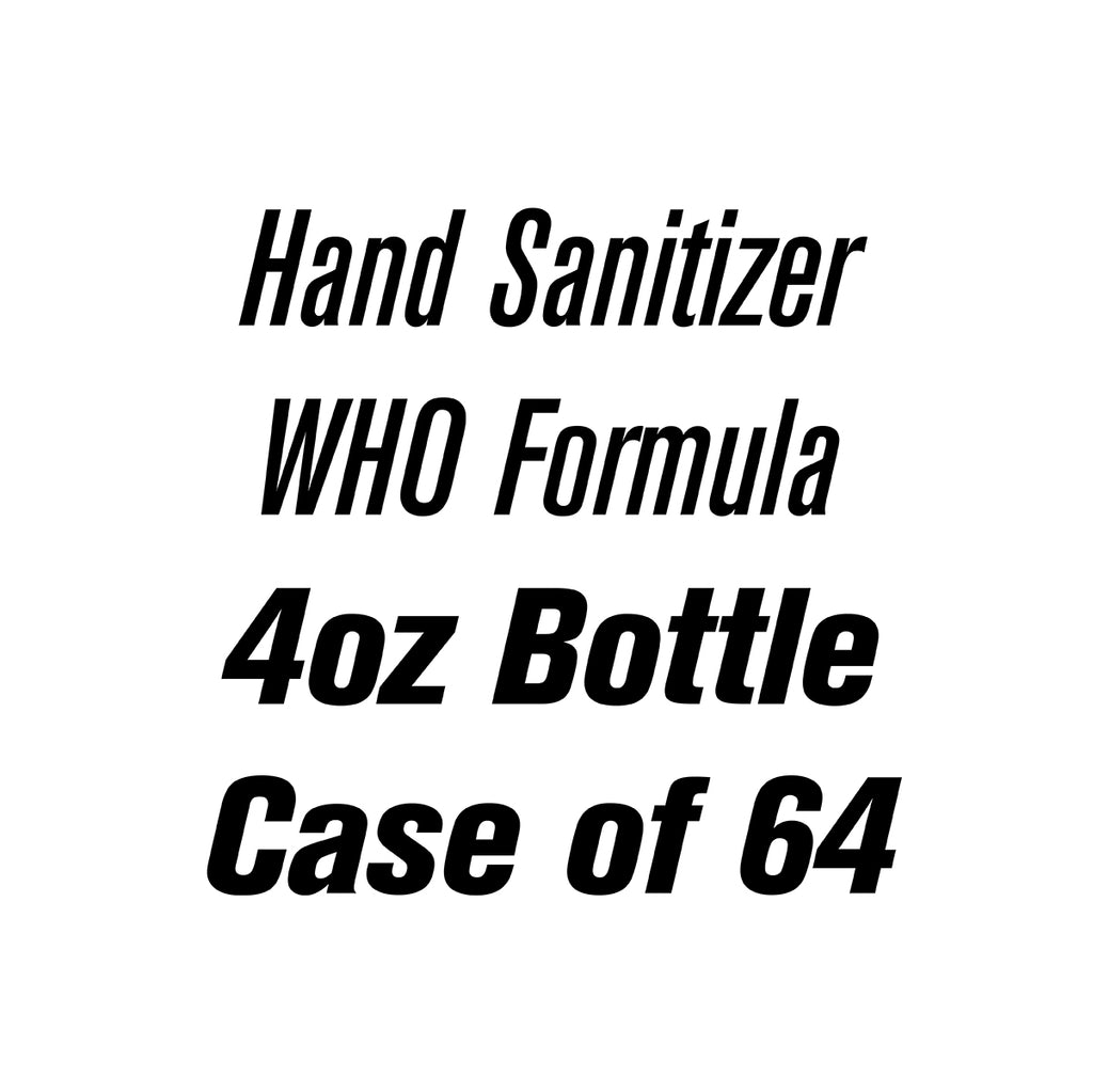 4oz Liquid Spray Hand Sanitizer Case of 64 | WHO Formula