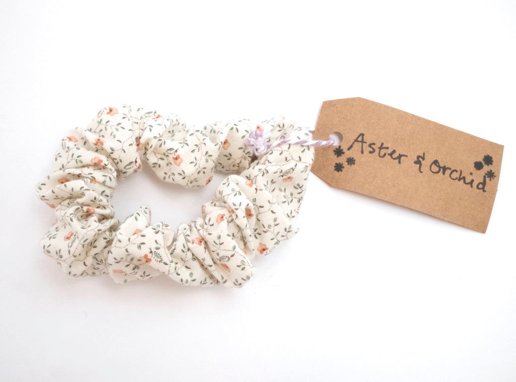 Aster & Orchid Hair Scrunchies