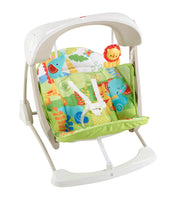 Ömmustóll og róla - Fisher Price Rainforest Take Along Swing & Seat - Hjal