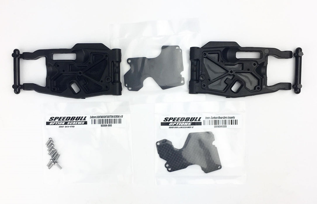 SPEEDBULL REAR ARM & CARBON INSERT TD1R/MBX8 PL18041204