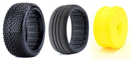James X Cross (tire insert wheel combo) Yellow (2pcs)