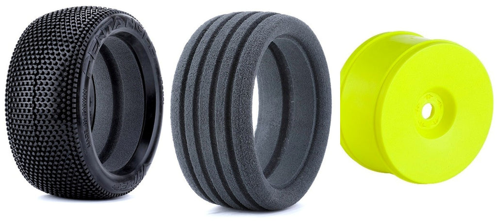 James Pentangle 1/8 Truck Tire/Wheel Combo (Yellow)