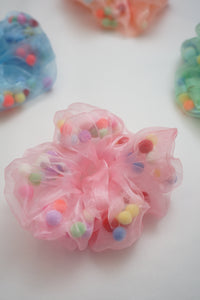 Pom Pom Ball Scrunchie