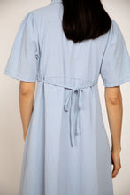 Load image into Gallery viewer, Cotton Button-up Dress Sky blue