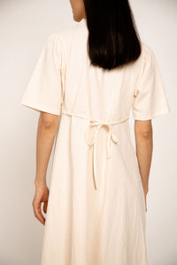 Cotton Button-up Dress Oats