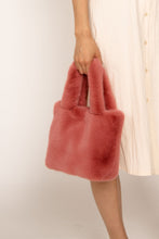 Load image into Gallery viewer, Faux Fur Hand Bag Nude Rose