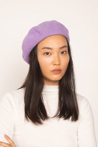Wool Beret Purple