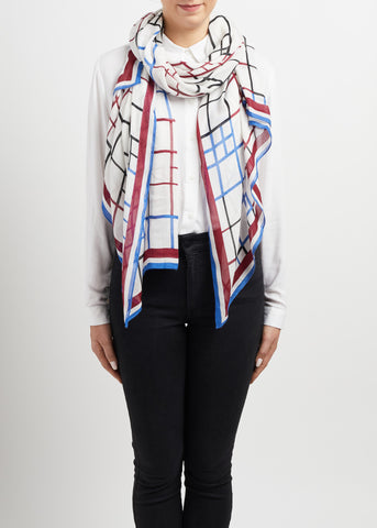 Nassella Scarf with Embroidery