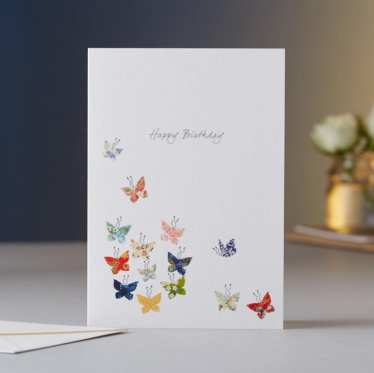 Butterfly Kaleidoscope Birthday Card