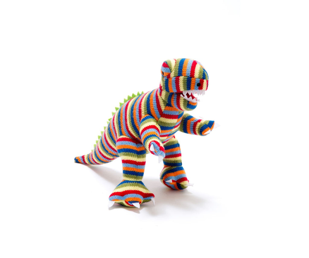 Striped T Rex Toy Rattle