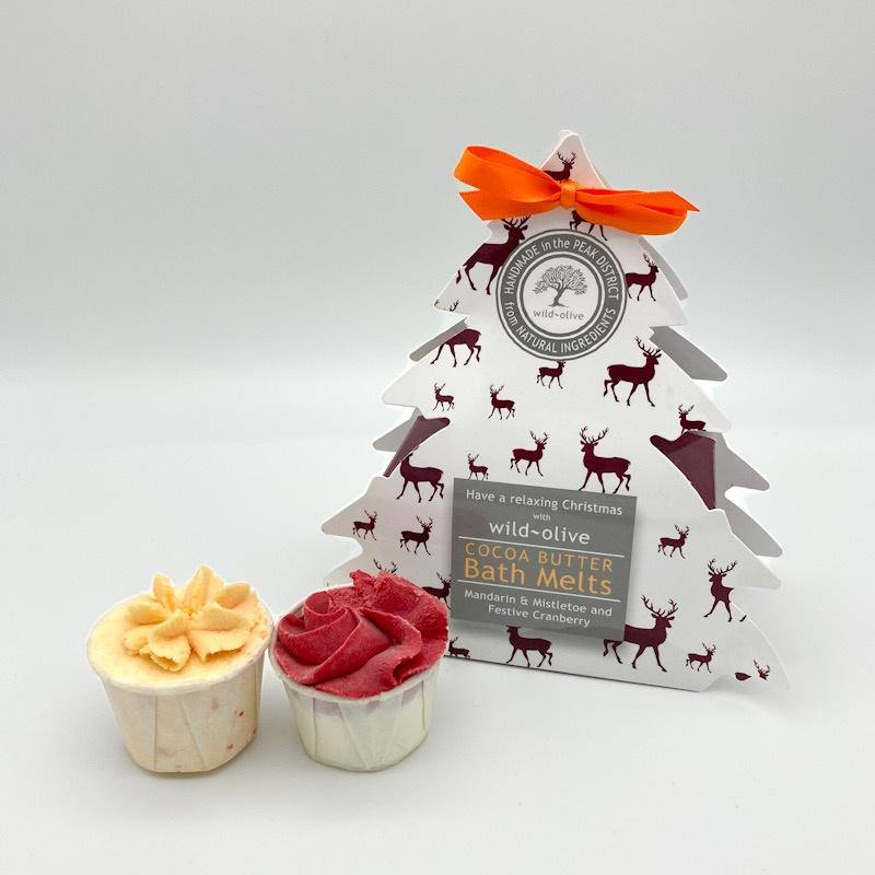 Christmas Bath Melts - Mandarin, Mistletoe and Festive Cranberry - Pretty Shiny Shop