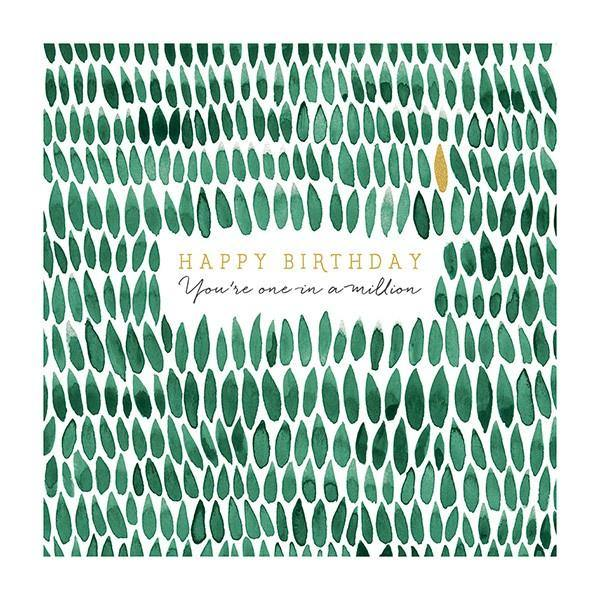Birthday Leaves Card - Pretty Shiny Shop