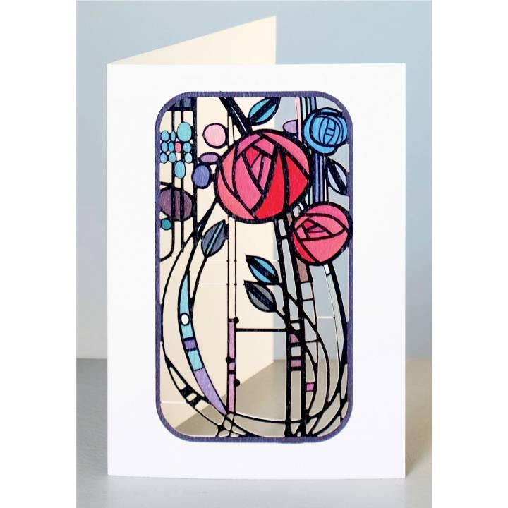 Abstract Roses Laser Cut Card