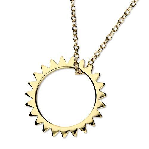 Golden Open Sun Necklace