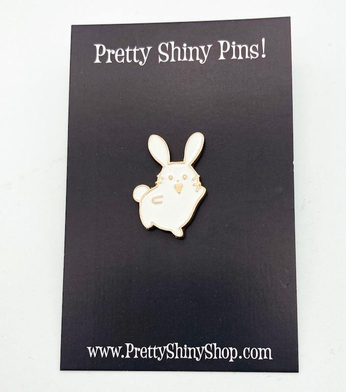 Happiest Bunny Pin - Pretty Shiny Shop