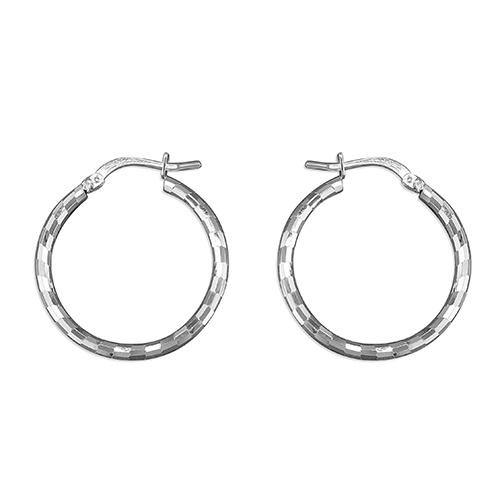 Cut Check Hoop Earrings