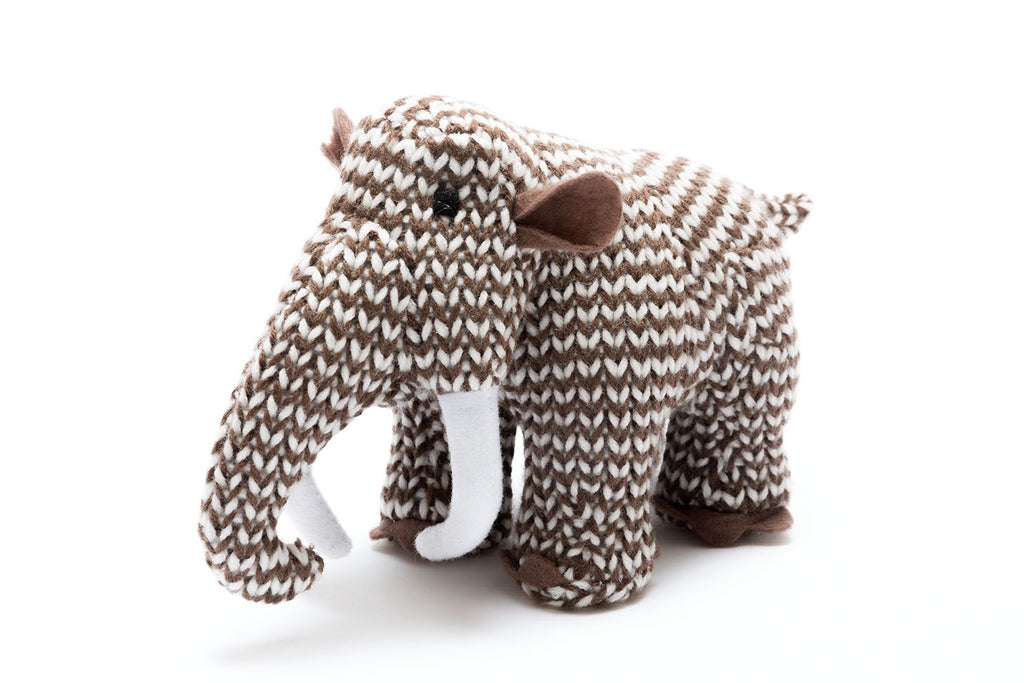 Woolly Mammoth Knitted Rattle - Small
