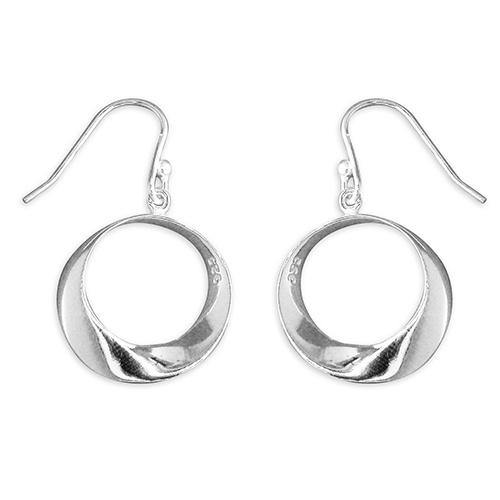 Graduated Twist Hoop Drop Earrings - Pretty Shiny Shop