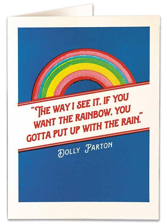 Dolly Parton Rainbow Card