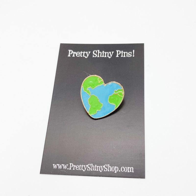 Love Earth Pin - Pretty Shiny Shop
