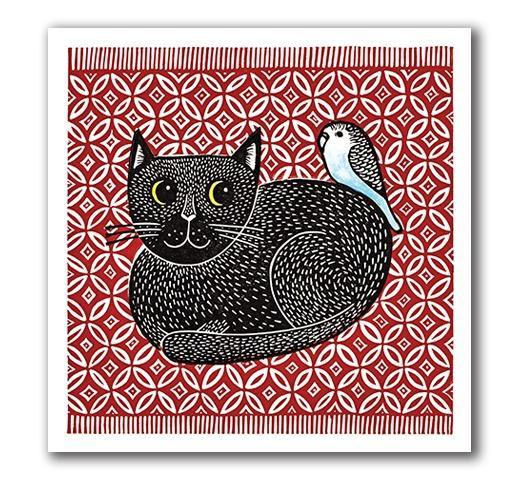 Cat & Budgie Card