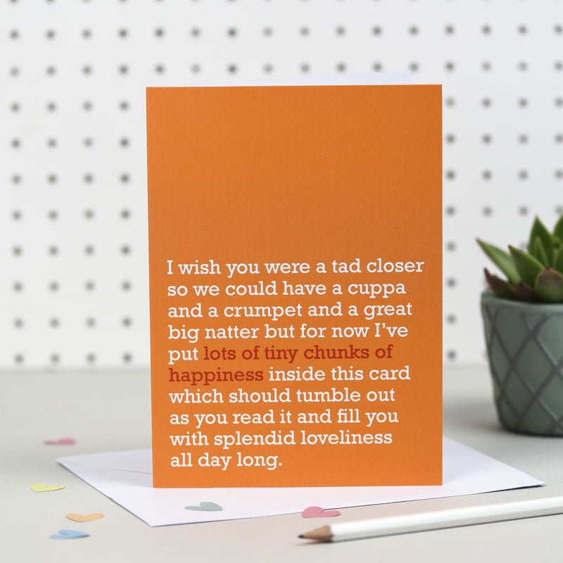 Tiny Chunks of Happiness Card