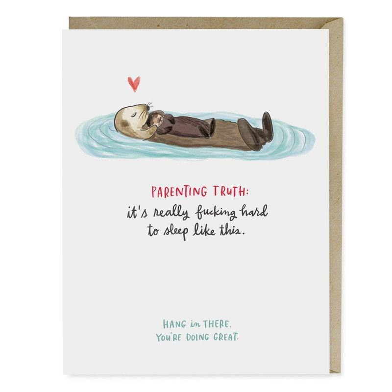 Baby Otter Parenting Card - Pretty Shiny Shop