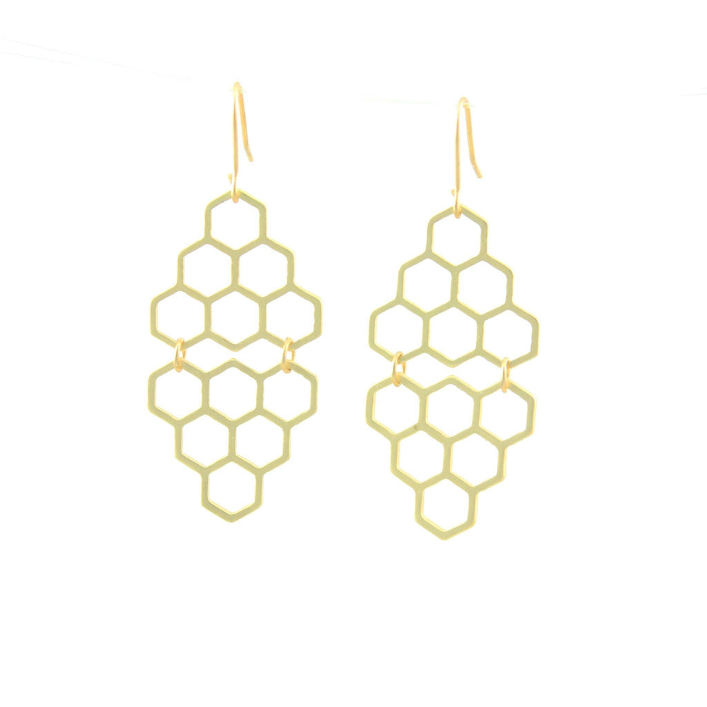 Honeycomb Drop Earrings