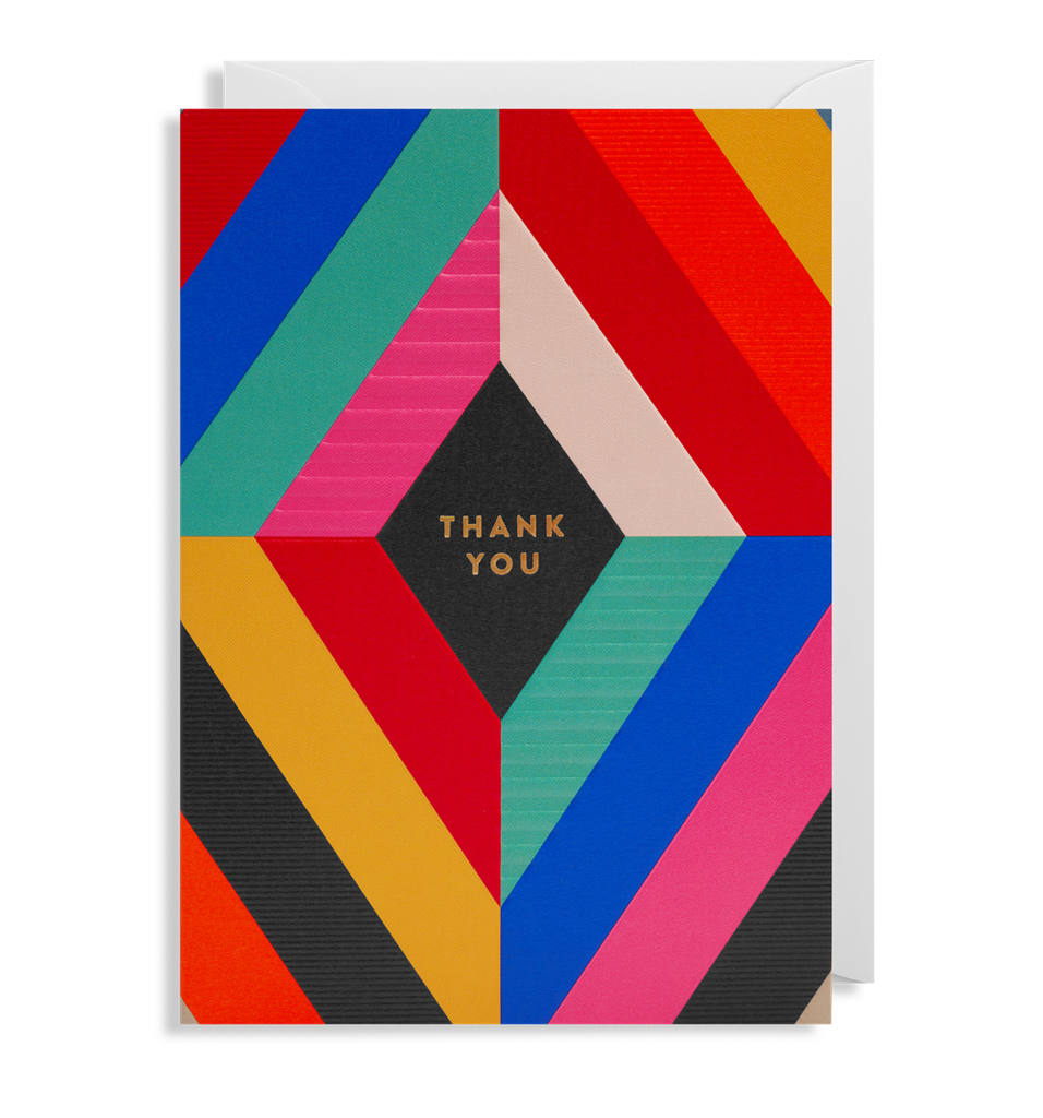Thank You Brightly Card - Pretty Shiny Shop
