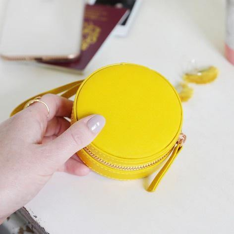 Travel Jewellery Case - Yellow - Pretty Shiny Shop