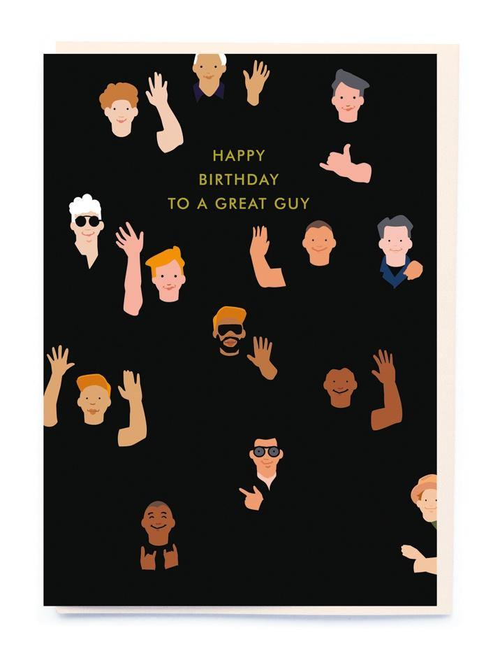 HB Waving Guys Card