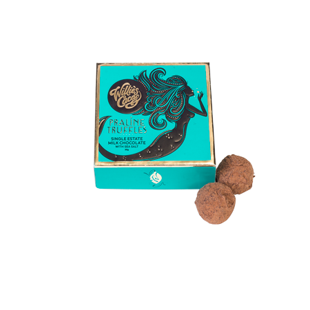 Milk Chocolate Praline Truffles With Sea Salt Taster Box