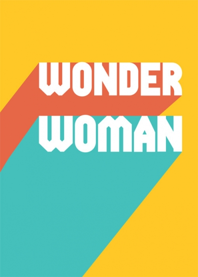 Typographic Wonder Woman Card