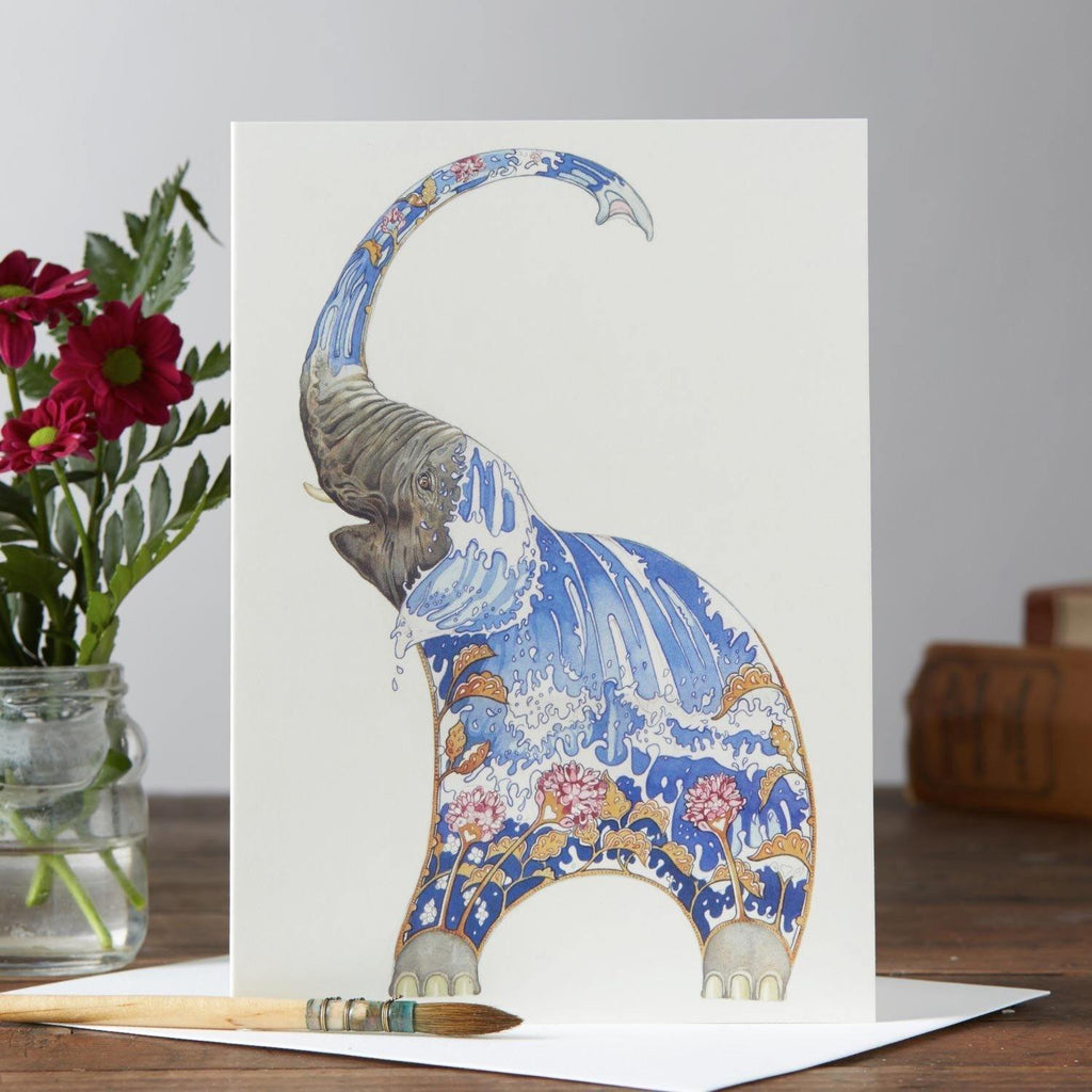 Elephant Squirting Water Card