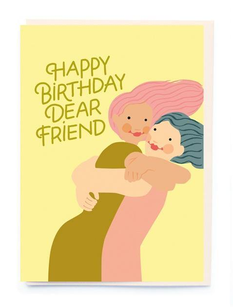 HB Hugging Friends Card