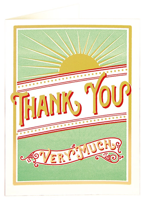 Sunburst Thank You Card