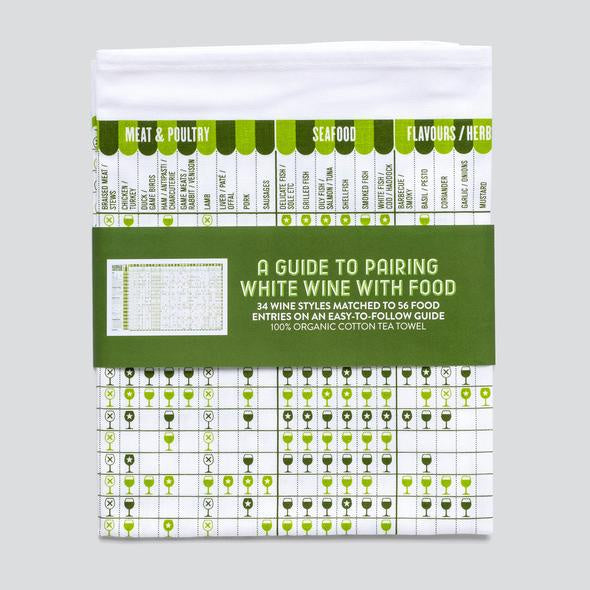 White Wine Guide Tea Towel
