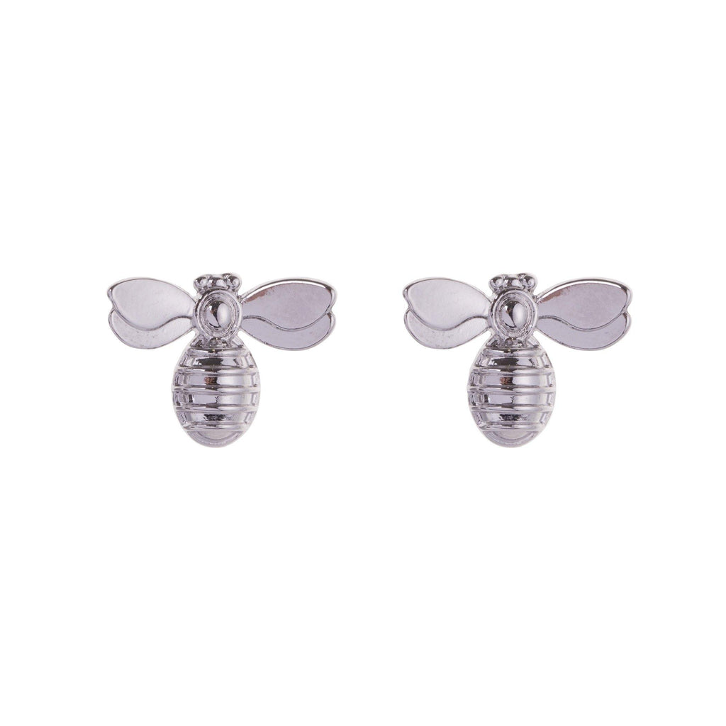 Bee Studs - Silvery - Pretty Shiny Shop