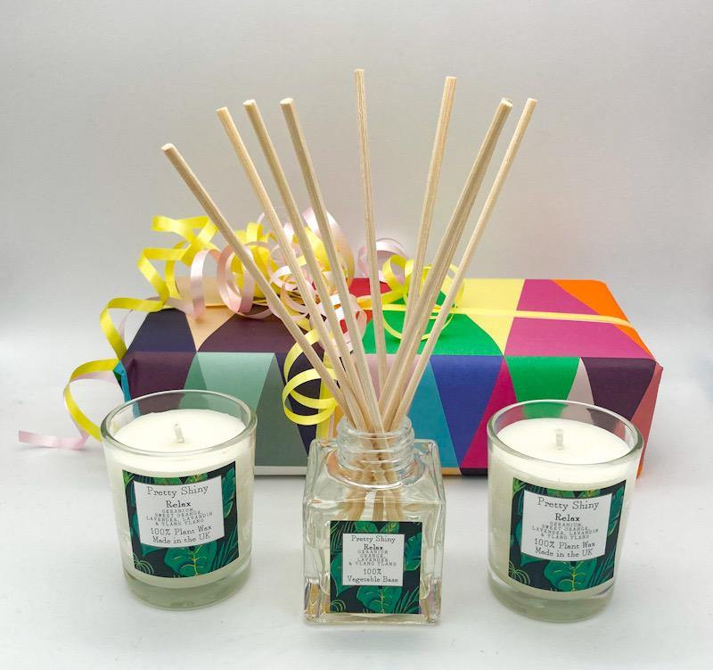 Relax Reed  Diffuser and Votive Gift Box - Pretty Shiny Shop