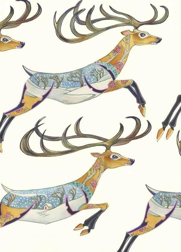 Leaping Stags Card - Pretty Shiny Shop