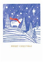 Polar Bear and Star Christmas Card
