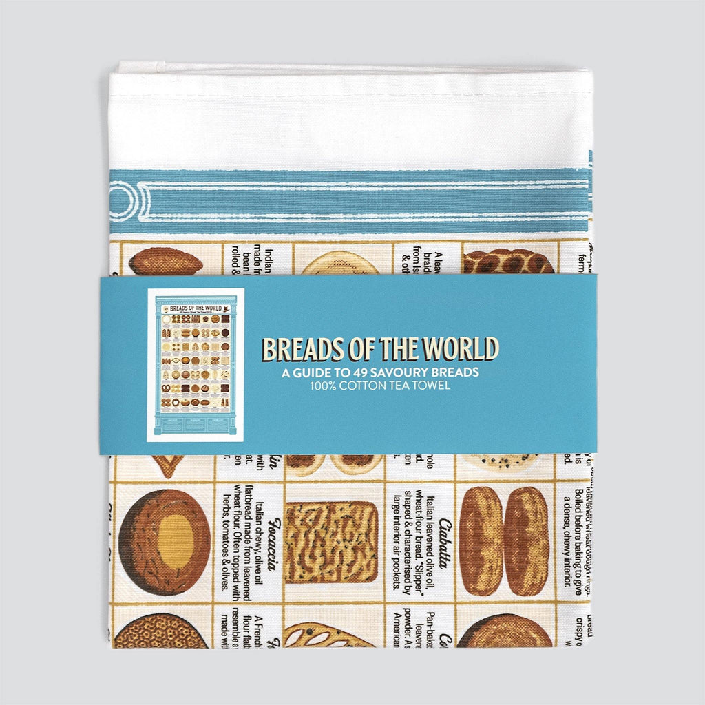 Breads of the World Tea Towel - Pretty Shiny Shop
