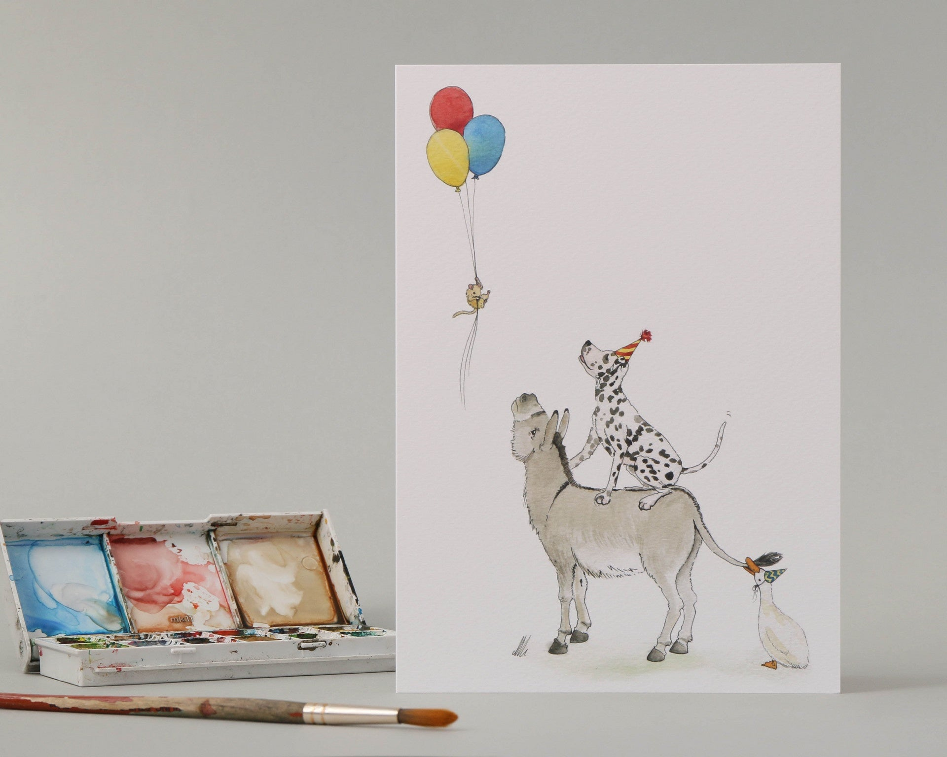 Donkey & Friends Birthday Card