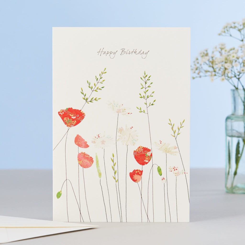 Poppies & Daisies Brithday Card